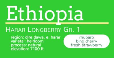 Ethiopia Harar Longberry Gr 1 1